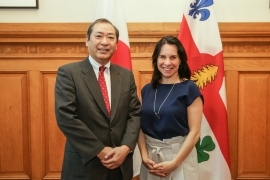 Courtesy call on the Mayor of Montreal (April 3, 2018)
