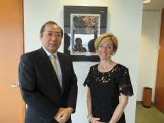 Meeting of Consul General Kuramitsu with Ms. Tremblay, Delegate General of Quebec in Tokyo (May 2, 2018)
