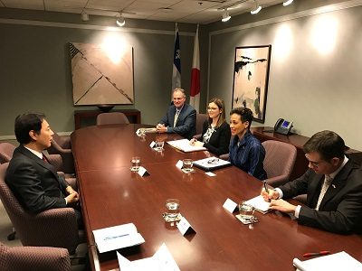 Meeting with Ms. Nadine Girault, Minister of International Relations and La Francophonie (November 23, 2018)