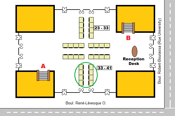 Map of ground floor